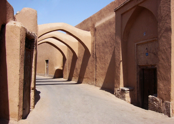 Adobe alleys of Yazd.