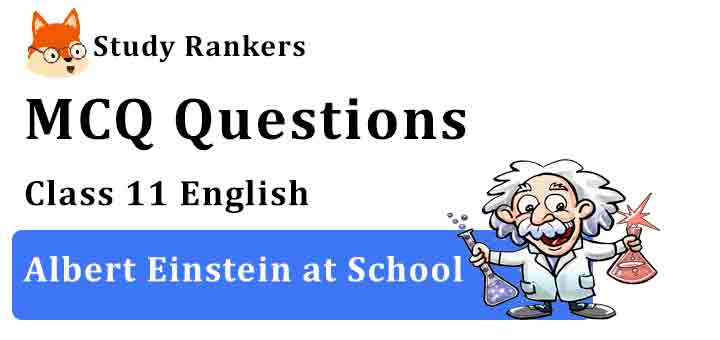 MCQ Questions for Class 11 English Chapter 4 Albert Einstein at School Snapshots