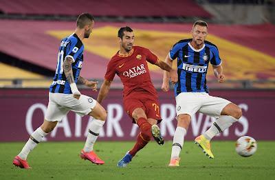 ملخص واهداف مباراة انتر ميلان وروما (2-2) فى الدوري الايطالي