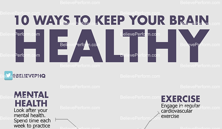 10 ways to keep your brain healthy #infographic