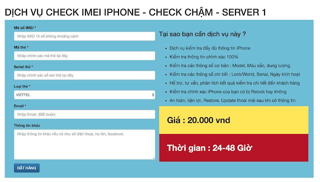 Checkimei.net - Dịch vụ kiểm tra thông tin iPhone chính xác