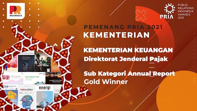 Ditjen Pajak Raih Tiga Penghargaan Gold Winner