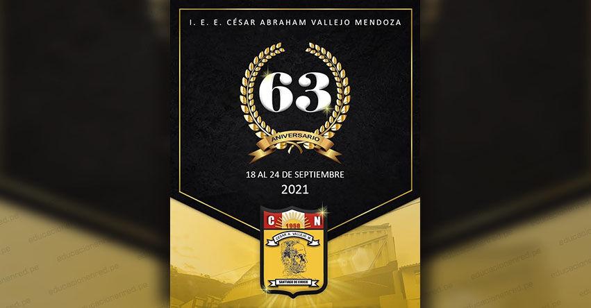 Colegio Emblemático César Vallejo, de Santiago de Chuco, celebra LXIII Aniversario