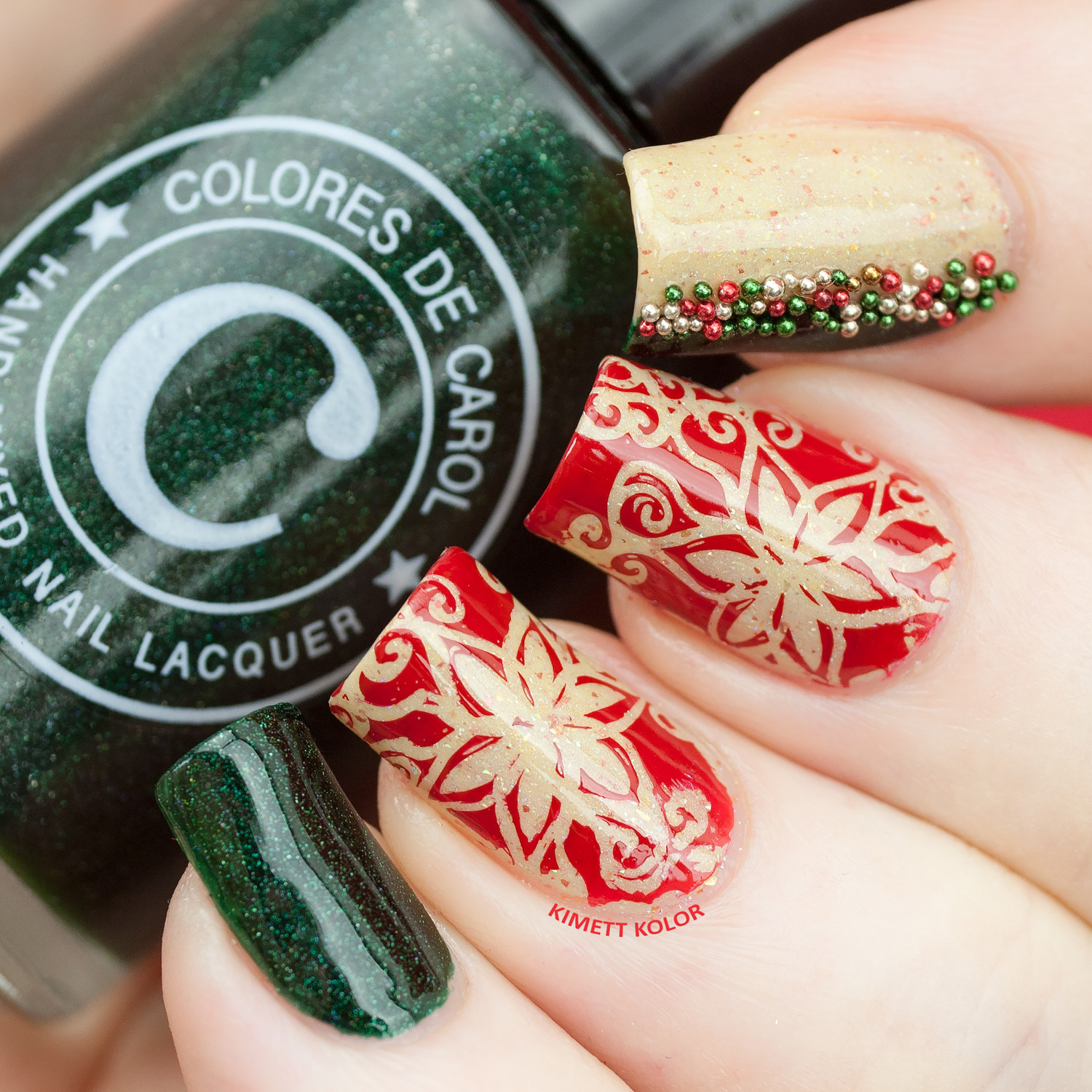 KimettKolor Christmas Flowers on ILNP Spiced Eggnog