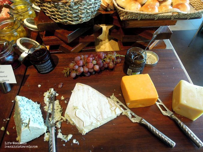 Cheese station at New World Hotel's Cafe 1228