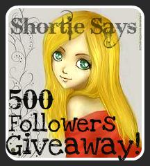 Short Says: 500 Followers Giveaway!