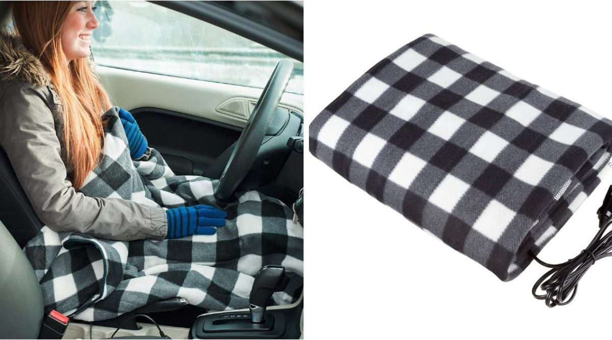 You Can Now Buy A Heating Blanket That Plugs Into Your Car
