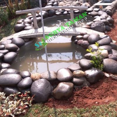 Tukang Kolam Cibinong | Kolam Batu Kali - SuryaTaman