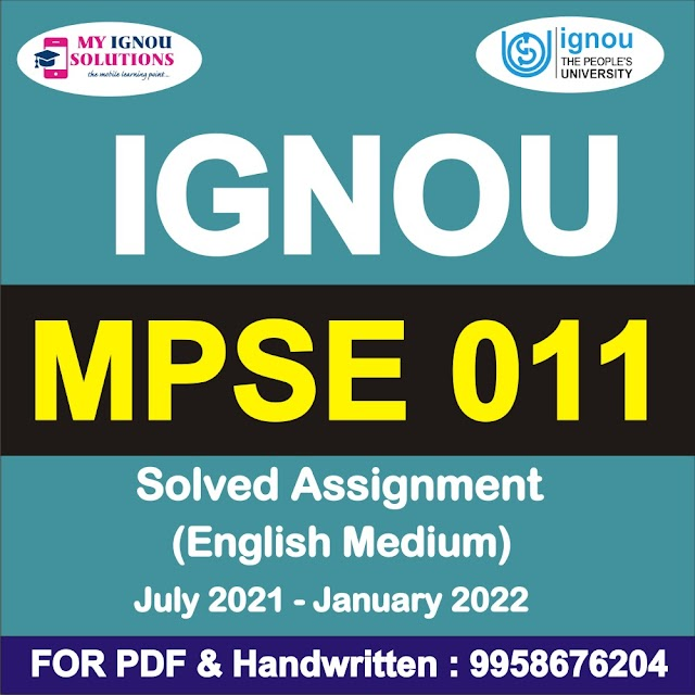 MPSE 011 Solved Assignment 2021-22
