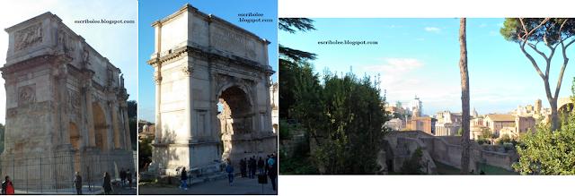 Viaje a Roma: arcos y panorámica