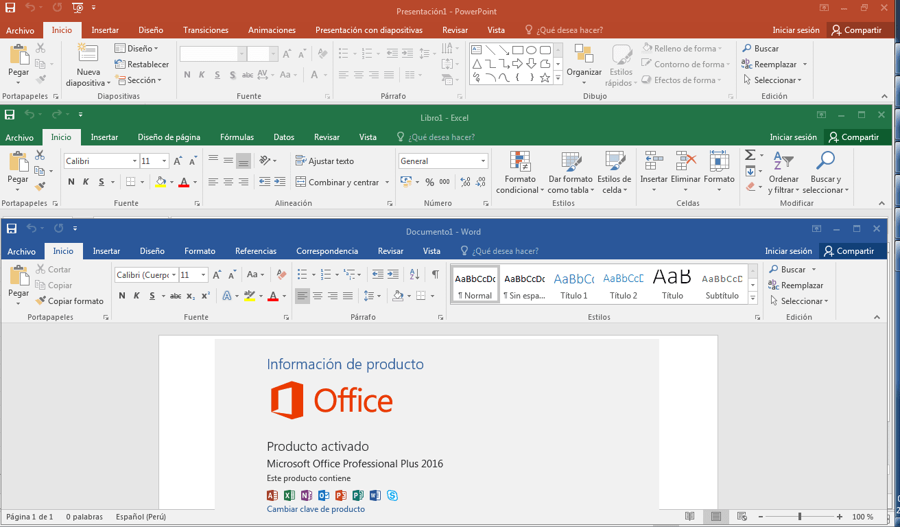 Microsoft Office 2016 Pro Plus VL Multi- [Agosto 2017] [x32-x64 Bits] Español Full Crack
