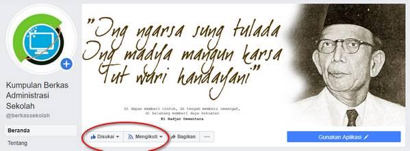 Fans Page Facebook Berkas Sekolah