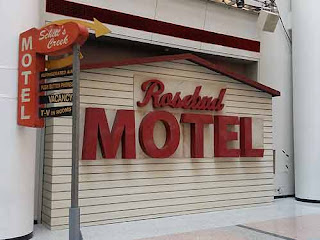 Rosebud Motel Sign At CBC Studios