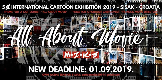 NEW DEADLINE: 5th INTERNATIONAL CARTOON EXHIBITION IN SISAK - CROATIA - MIKS 2019