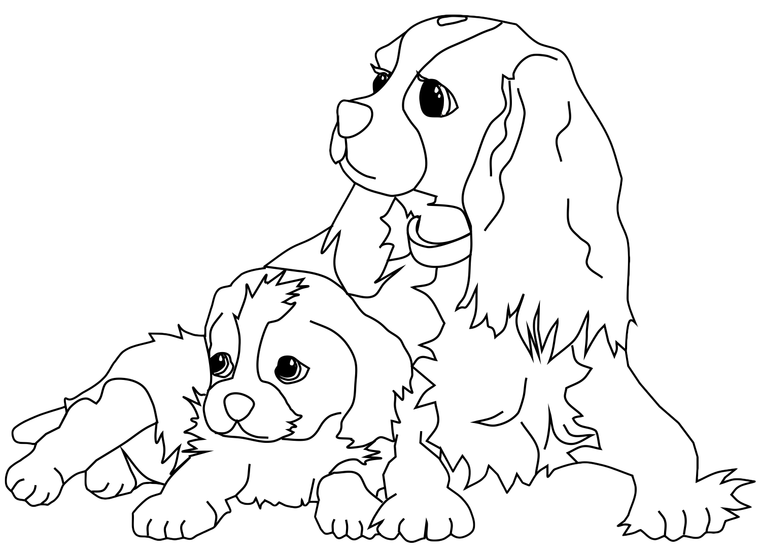 Dogs coloring pages 97