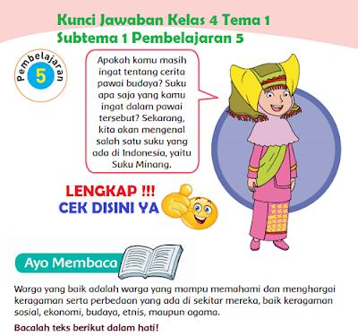 Kunci Jawaban Kelas 4 Tema 1 Subtema 1 Pembelajaran 5 www.simplenews.me