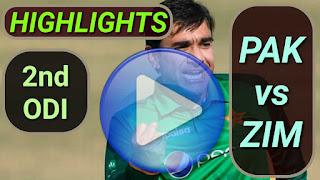 PAK vs ZIM 2nd ODI 2020