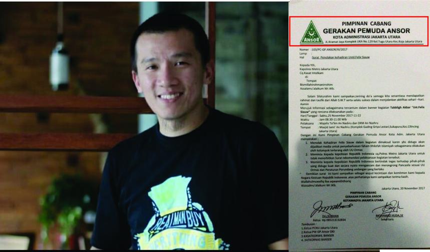 Banser Kembali Ingin Gagalkan Pengajian Ustadz Felix Siauw di Jakarta