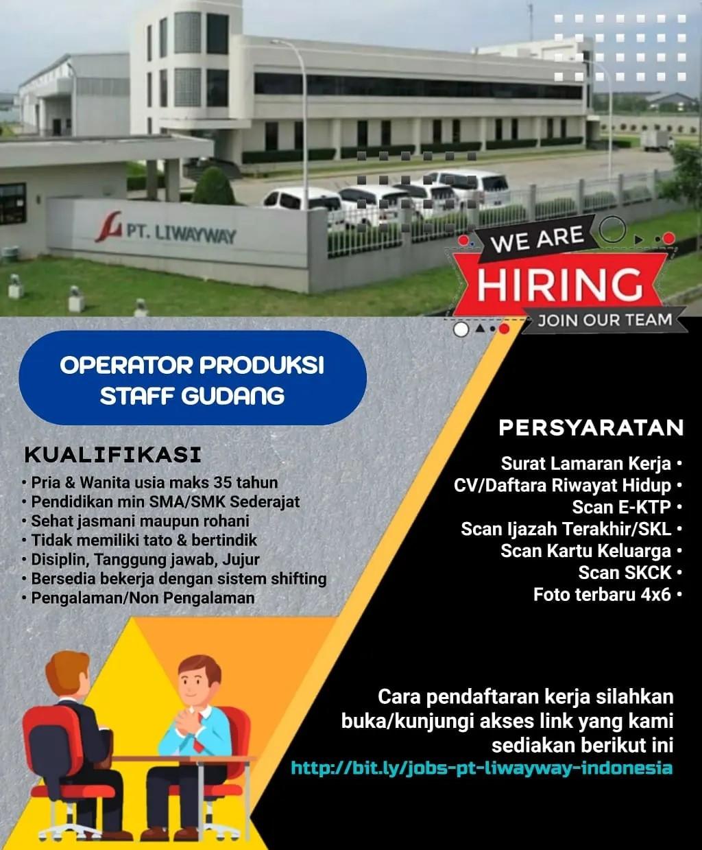 Lowongan Kerja PT Liwayway Indonesia