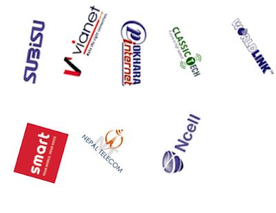 Top Internet Servie Providers in Nepal -- logos