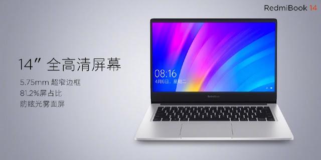 Laptop RedmiBook 14 Resmi diluncurkan Dengan 8 Gen Core i7, GeForce MX250 Dan 10 Jam Masa Pakai Baterai