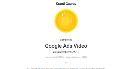 A Short Lecture on Google Video Ads By Kranti Gaurav from XLRI