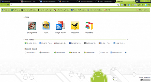 Top 5 Android Inspired Google Chrome Themes