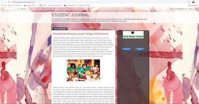 Blog tentang student jurnal