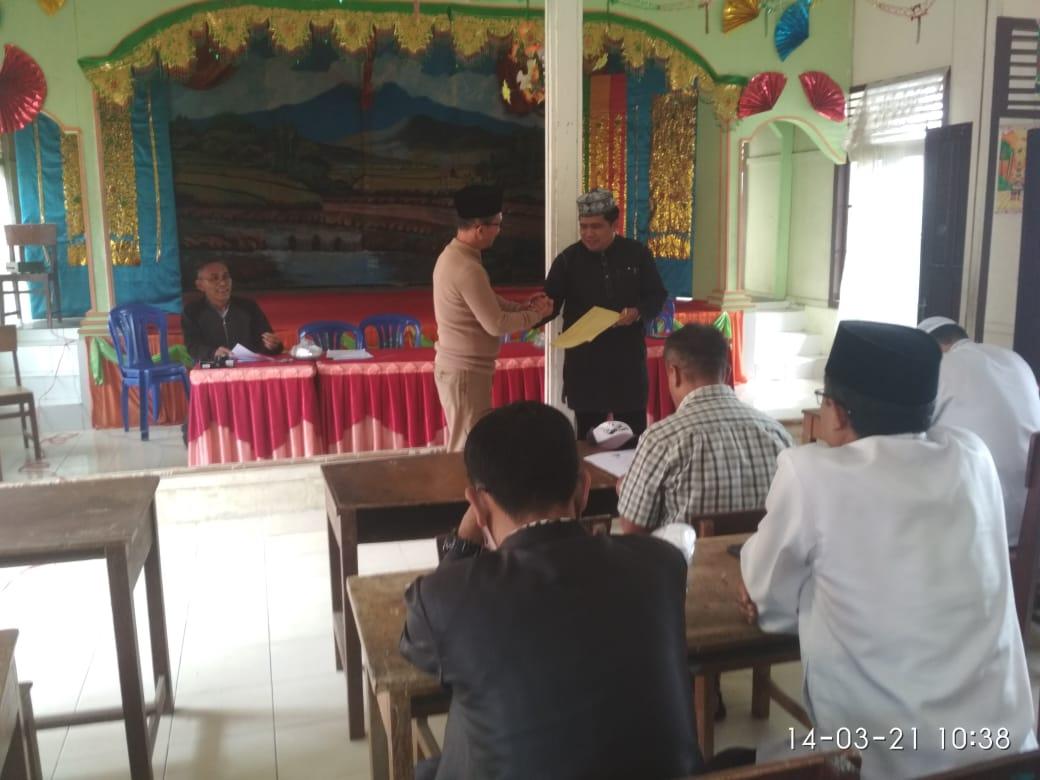 Pengukuhan Badan Baitul Mal Jorong Guguak Randah H. Guspardi Gaus Dt. Batuah Sebagai Penasehat