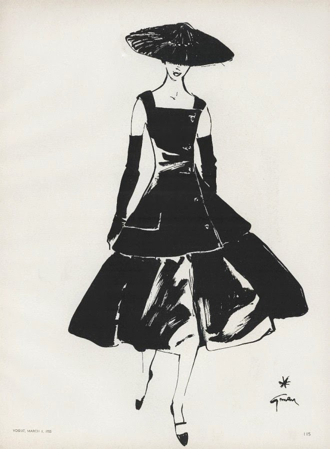 Dresses sketches dior