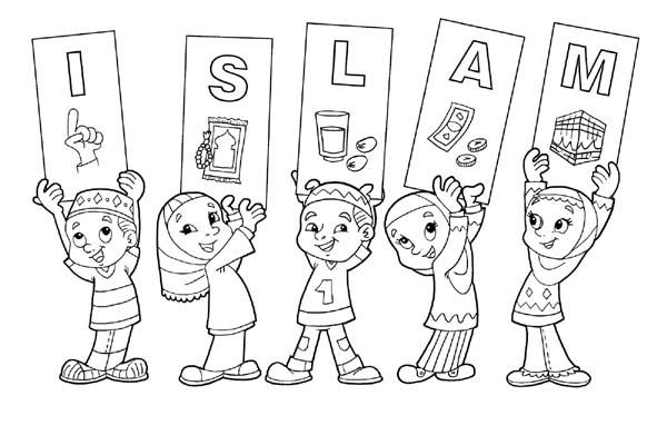 Gambar Mewarnai Islami Untuk Anak Tk