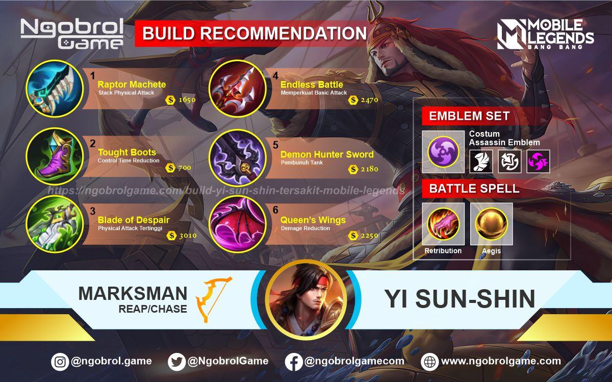 Build Yi Sun Shin Top Global Tersakit Mobile Legends