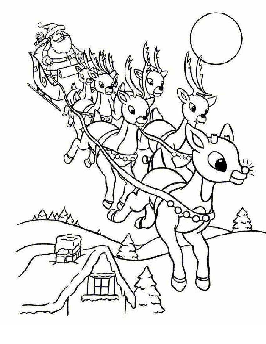 santa claus coloring pages free - photo#17
