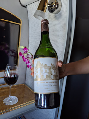 Chateau Haut-Brion in Emirates First Class from the Emirates Wine Cellar