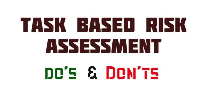 How to conduct Task Based Risk Assessment (TBRA) | Job Safety Analysis JSA