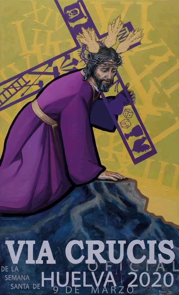 Presentado el Cartel anunciador del Vía Crucis oficial de la Semana Santa de Huelva 2020