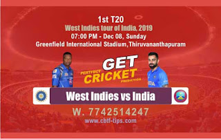 Who will win Today T20 Prediction, 2nd T20 Match WI vs Ind - Cricfrog