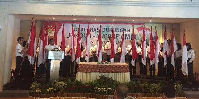 Andi Widjajanto & Belasan Pensiunan TNI Deklarasi Dukung Jokowi-Ma'ruf