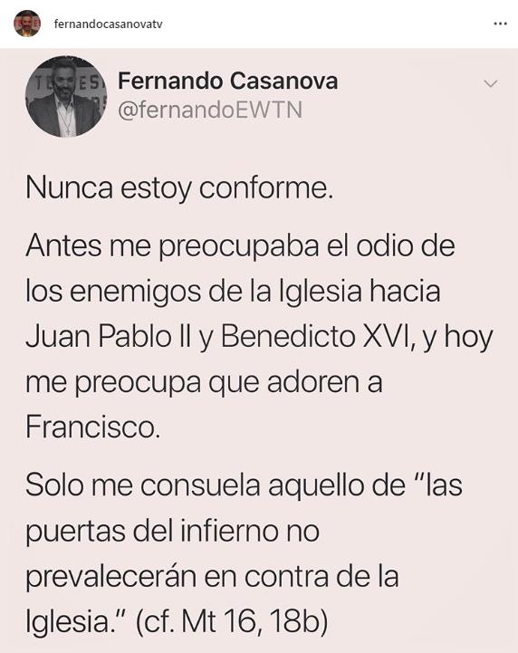 Fernando Casanova en Instagram