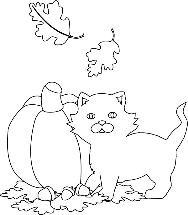 Halloween Coloring Pages Halloween Cat Coloring Pages