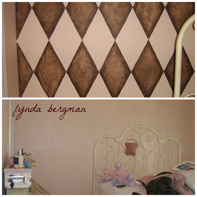 Lynda bergman decorative artisan drawing painting a for Painting stripes on walls in kids room