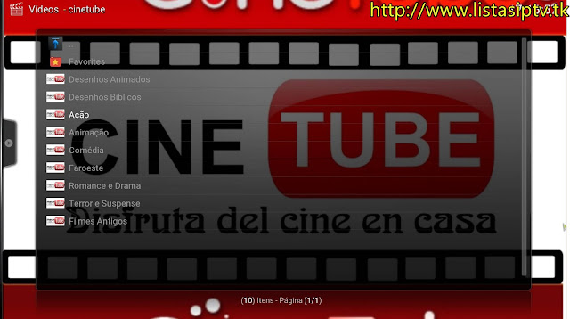 Add-on - Cinetube - Add-On com Filmes do Youtube