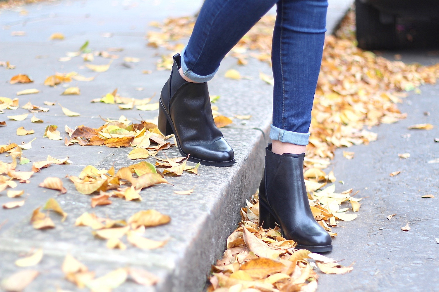 leather ankle boots la redoute peexo