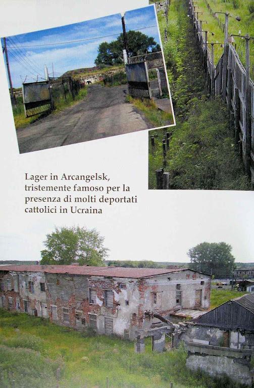 Restos do campo de Arcangelsk, onde morreram muitos ucranianos católicos deportados e escravizados
