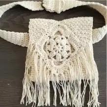 Mini Cartera a Crochet