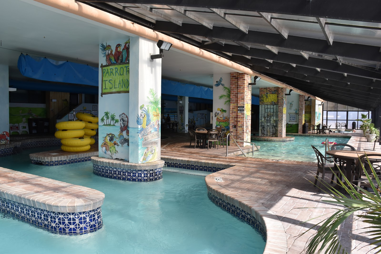 Indoor pool and lazy river in Caribbean Resort and Villas in Myrtle Beach
