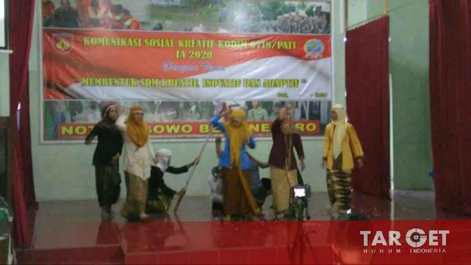 Komsos Terpadu, Tiga Sanggar Theater Unjuk Kreatif di Makodim Pati