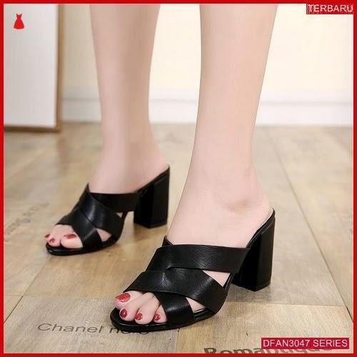 DFAN3047S119 Sepatu Yf01 Hak Tahu Wanita Sol Karet BMGShop