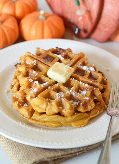 Pumpkin Chocolate Chip Waffles Recipe