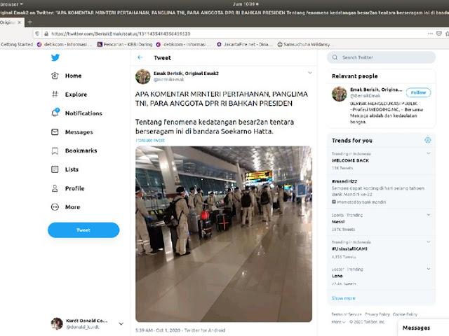 Viral Isu Liar 'Tentara Berseragam Tiba di Soetta', Ini Analisis Polisi